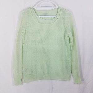 Ann Taylor Small Green Sweater w/built in Cami